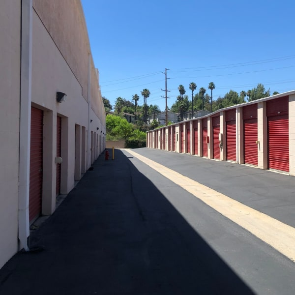Drive-up access storage units at StorQuest Self Storage in Temecula, California