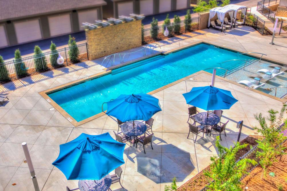 Avenida Partners, LLC offers residents with a posh salt water pool