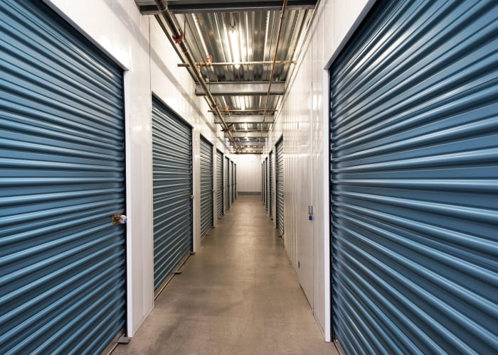 Climate-controlled storage units at Golden Triangle Self Storage in San Diego, California