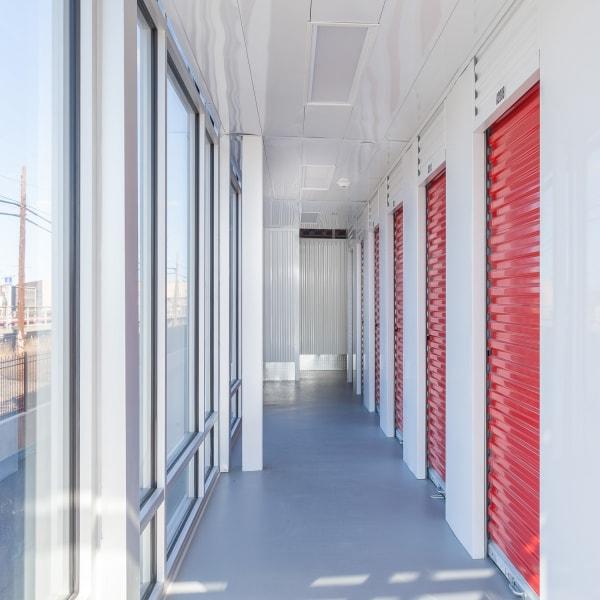 Indoor storage units at StorQuest Self Storage in Westbury, New York