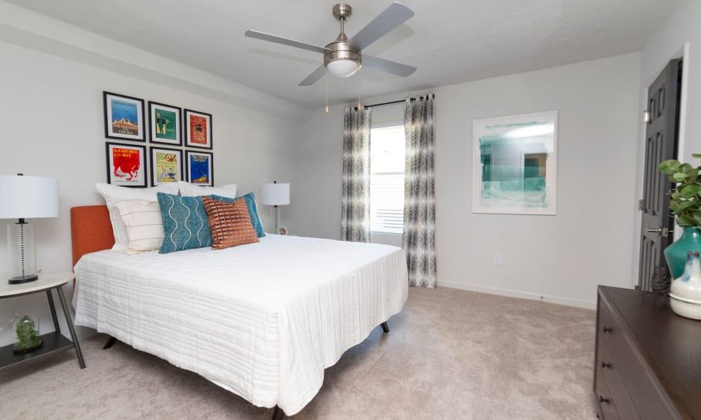 Bedroom model at The Halsten in Atlanta, Georgia
