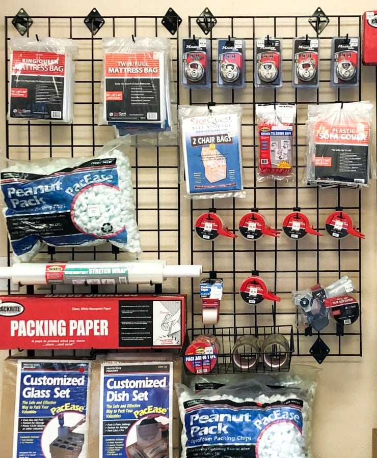 Packing supplies available at StorQuest Self Storage in Richmond, Texas