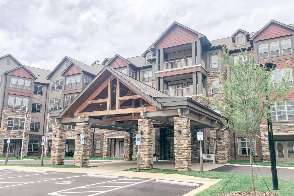 Front entry view at Harmony at Greensboro in Greensboro, North Carolina
