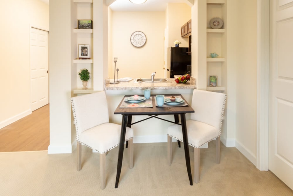 Eat in table in apartment at The Harmony Collection at Roanoke - Assisted Living in Roanoke, Virginia