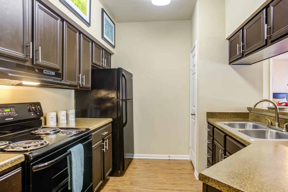 Kitchen at Salado Springs Apartments in San Antonio, Texas