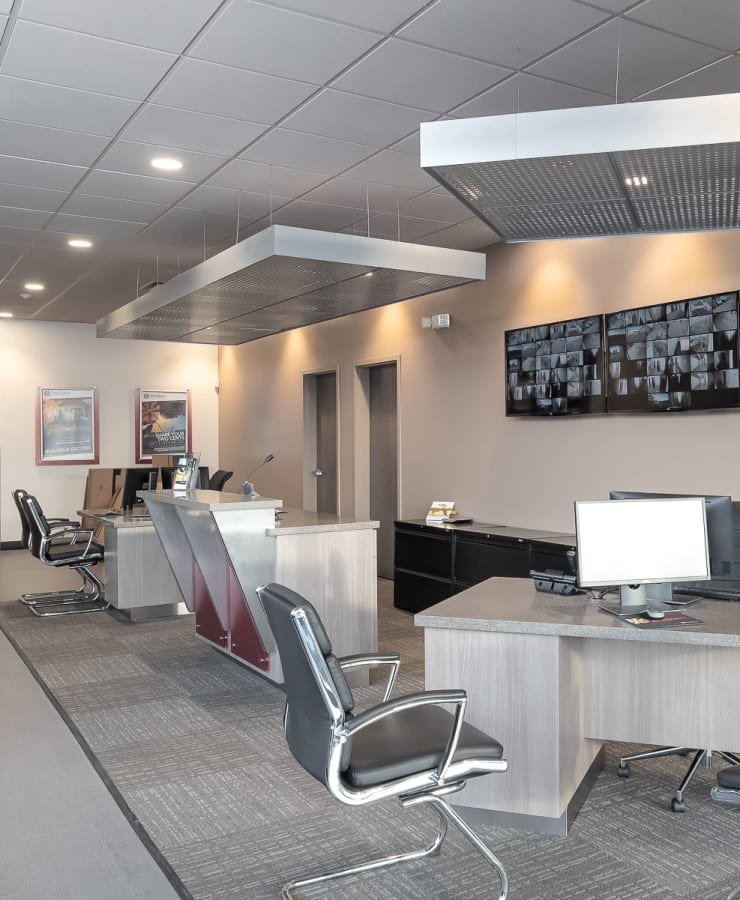 Interior of the leasing office at StorQuest Self Storage in Stockton, California