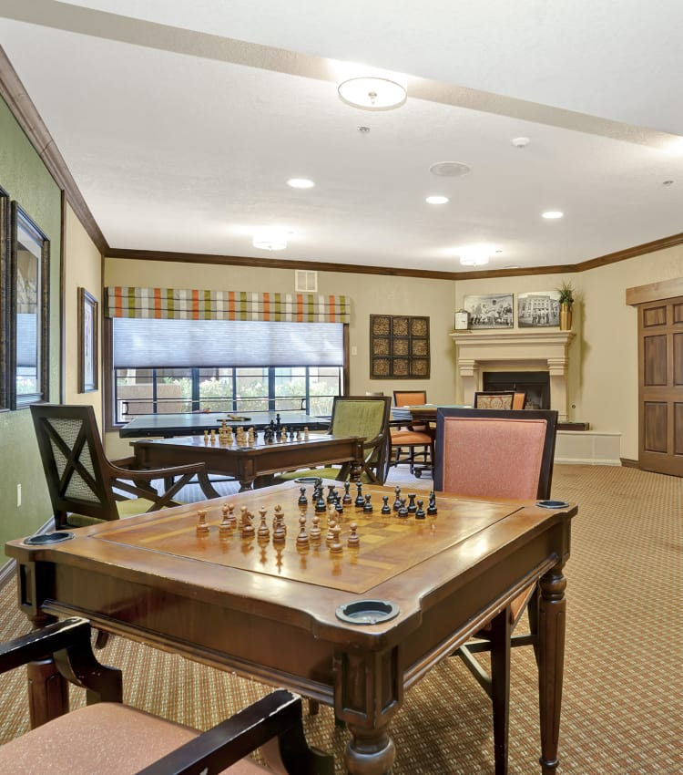Chess table at The Country Club of La Cholla