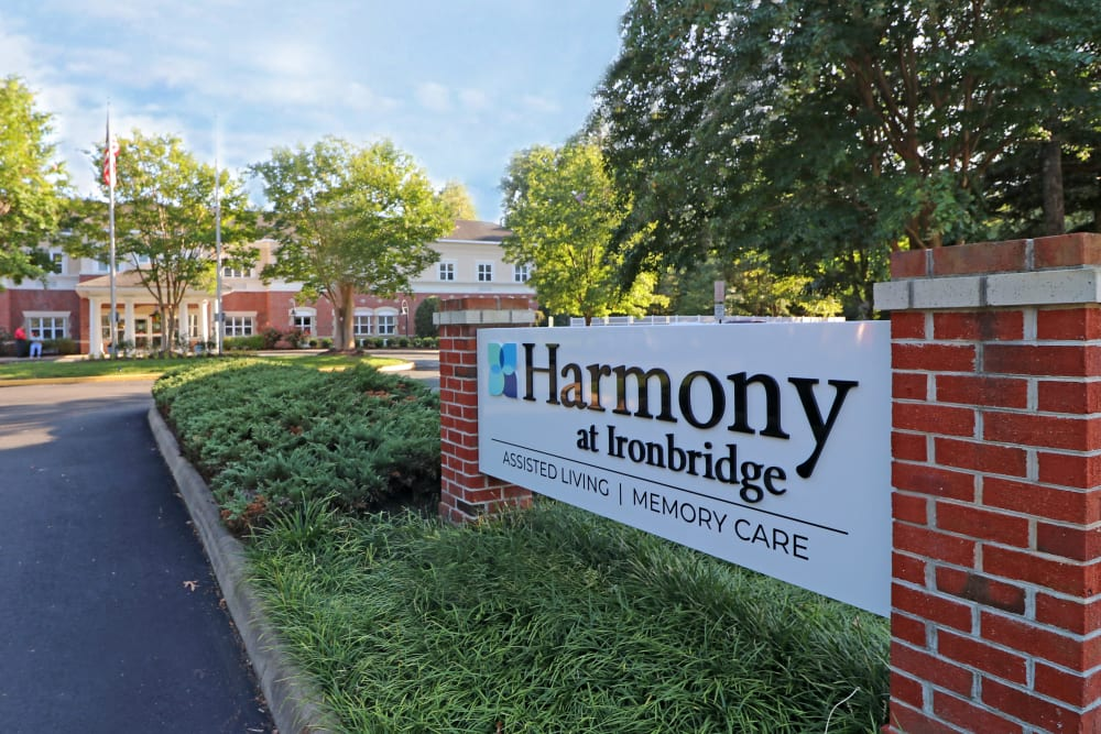 Entrance at Harmony at Ironbridge in Chester, Virginia