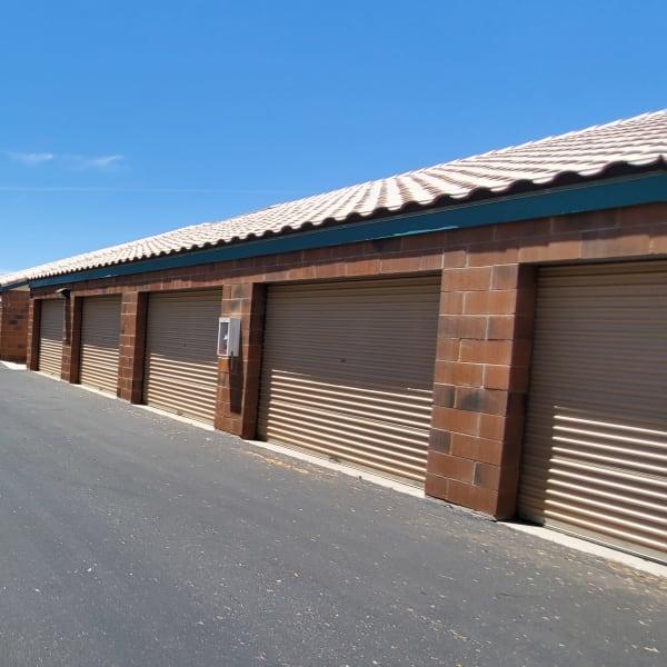 Outdoor storage units at StorQuest Self Storage in Tempe, Arizona