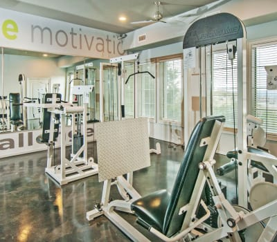 Well-equipped onsite fitness center at Meritage at Steiner Ranch in Austin, Texas