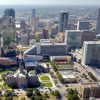 Aerial view of Haltom City, Texas near Bellrock Upper North