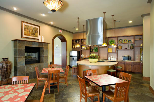 The clubhouse at Onion Creek Luxury Apartments in Austin