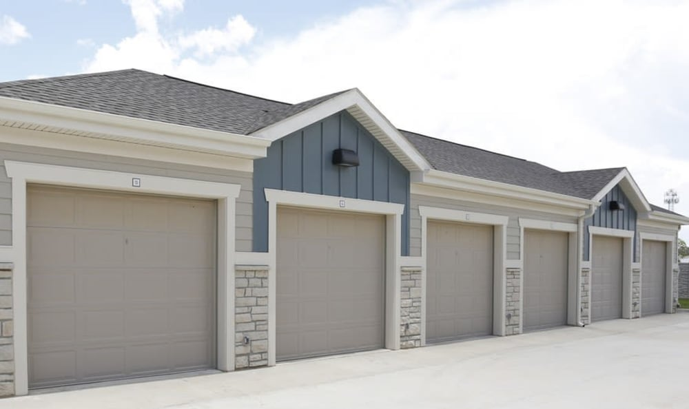 detached garages at Springs at Country Club Apartments in Lake Charles, LA