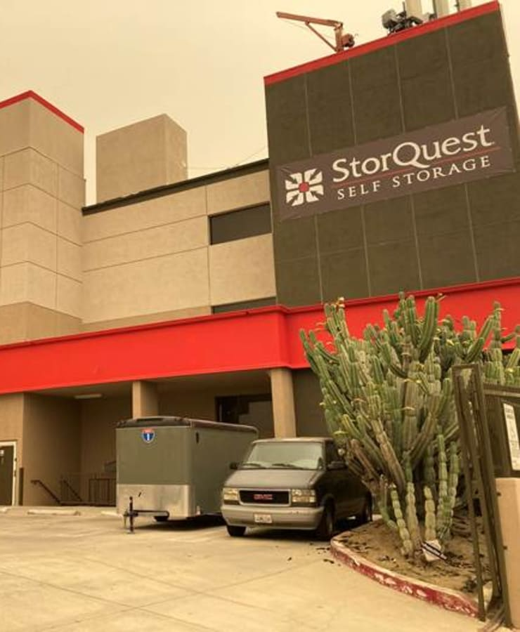 The exterior at StorQuest Self Storage in Los Angeles, California