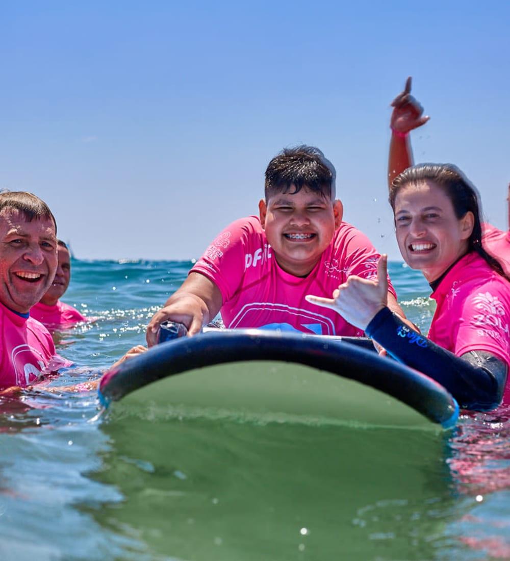 Helping disabled children surf