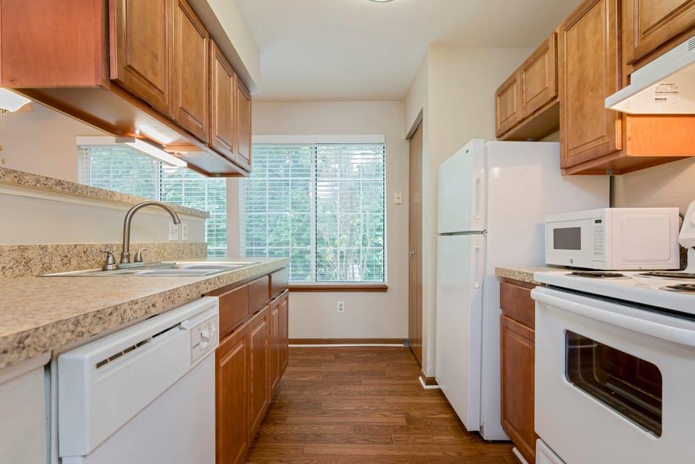 Kitchen at Monticello Apartments in Southfield, MI