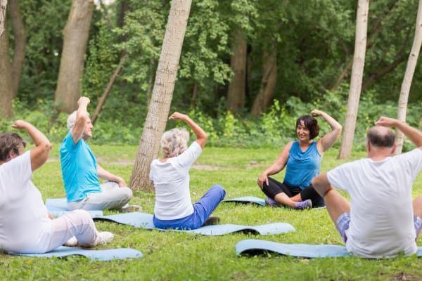 Senior living outdoor workout in michigan city indiana
