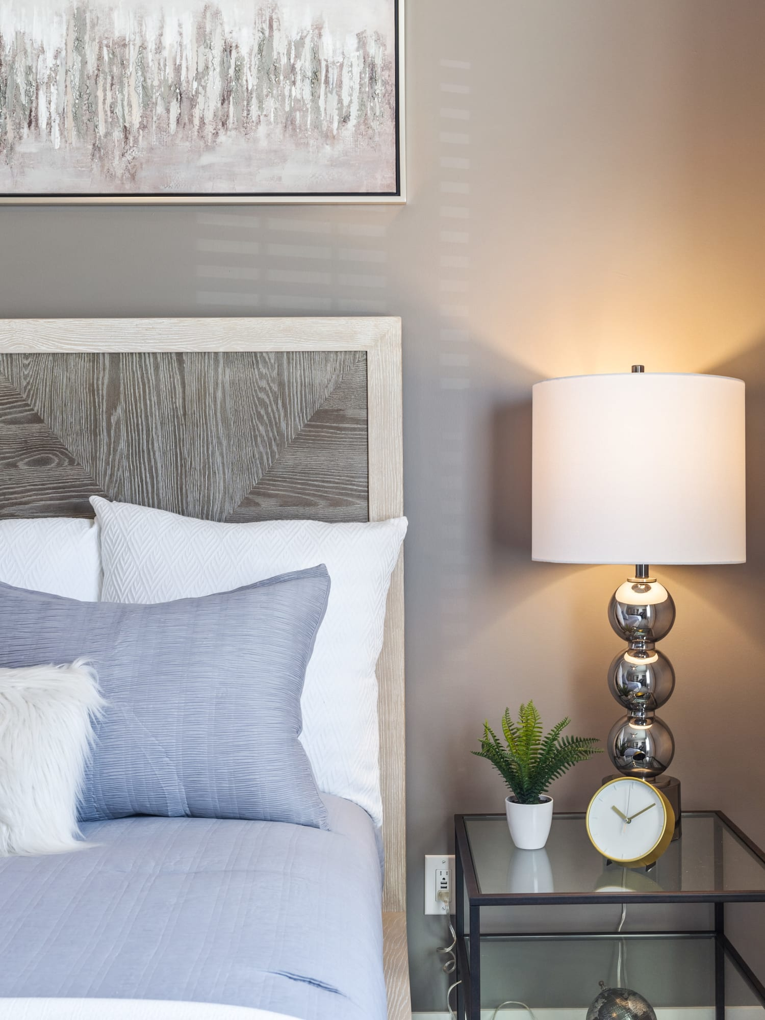 Model bedroom at Lakefront at West Chester in West Chester, Ohio