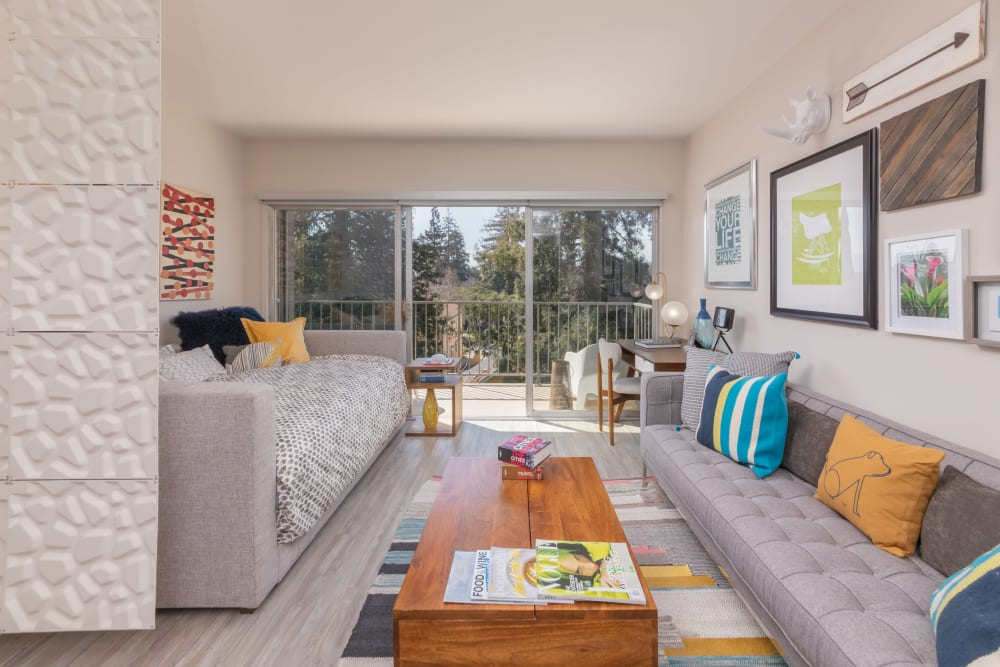 Our apartments in Palo Alto, California showcase a luxury living room