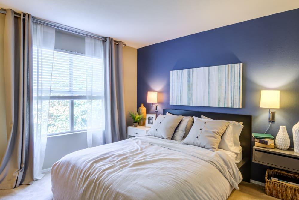 Master bedroom at apartments in Fredericksburg, VA
