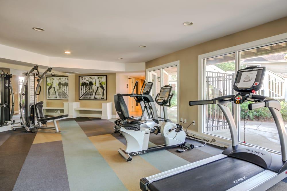 Fitness center at Residences at Belmont in Fredericksburg