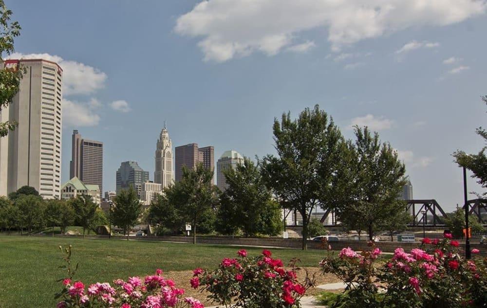 Park near Easton Commons in Columbus, Ohio