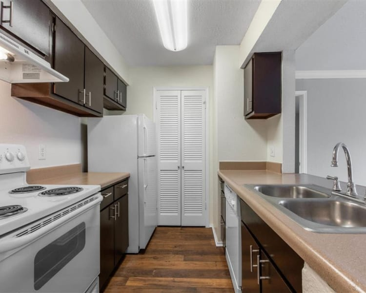 Spacious kitchen with plenty of counter space at The Hamilton in Hendersonville, Tennessee