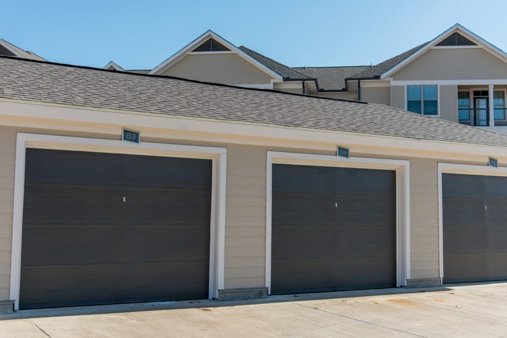 Private Garages at The Reserve on Bayou DeSiard in Monroe, Louisiana