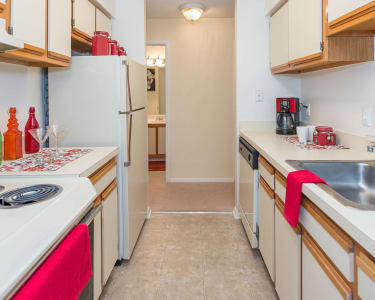 Updated kitchens at Reflections at Virginia Beach in Virginia Beach