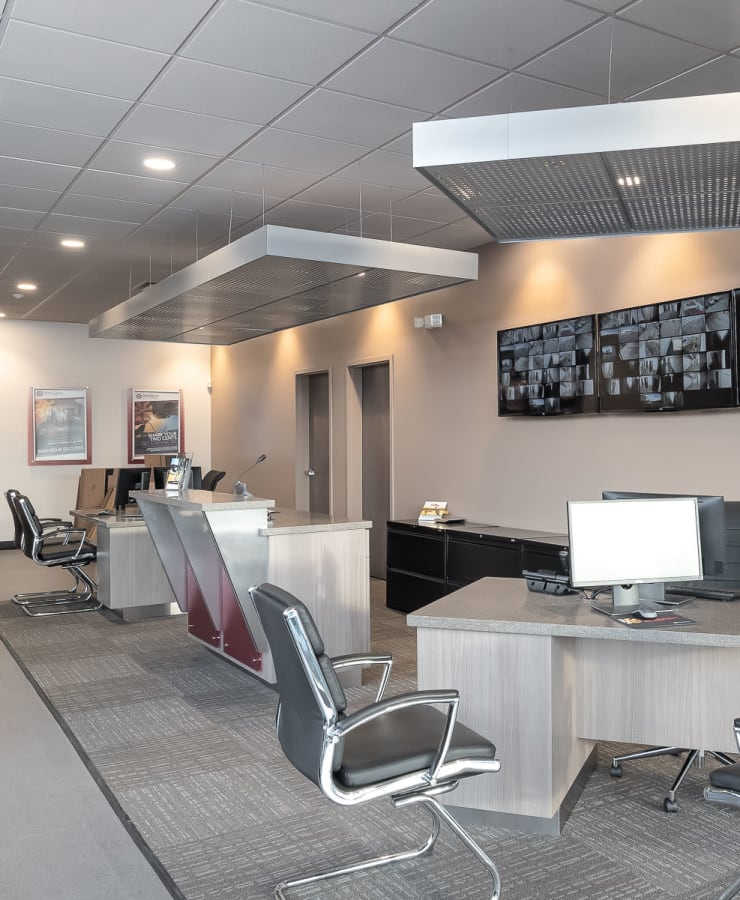 Interior of the leasing office at StorQuest Self Storage in Seattle, Washington