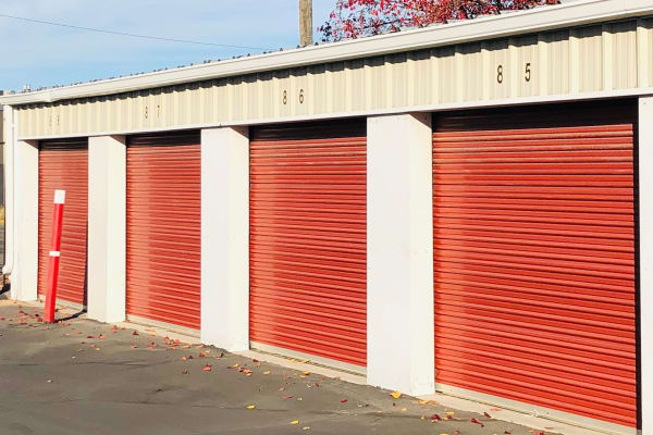 Drive-up storage units at Granary Storage in Salt Lake City, Utah