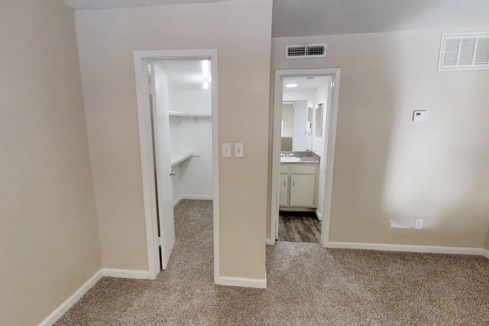 Closet space at Falls of Maplewood Apartments