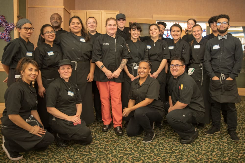Renton Centre dining team at our senior living community in Renton, WA