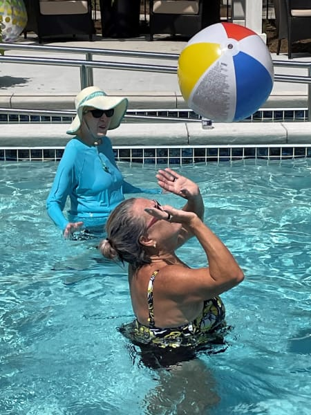 Carolina Park (SC) residents took advantage of the pool and played some volleyball.