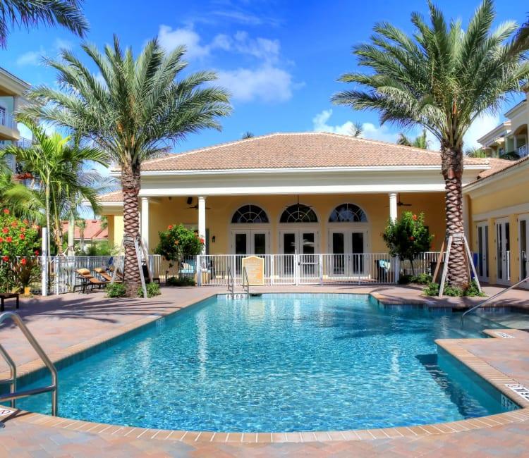 Resort-style swimming pool at Riverwalk Pointe in Jupiter, Florida
