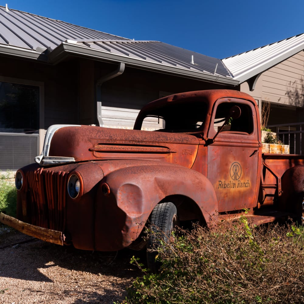 ranch truck at The Asten at Ribelin Ranch in Austin, Texas