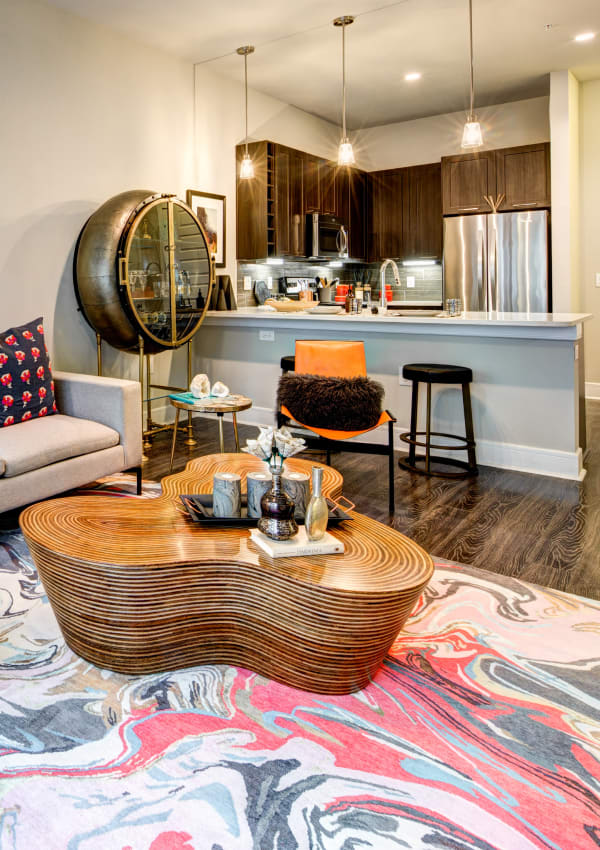 Well decorated apartment at Water Marq in Austin, Texas