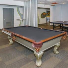 billiard table at Urban Flats apartments in St. Petersburg, FL