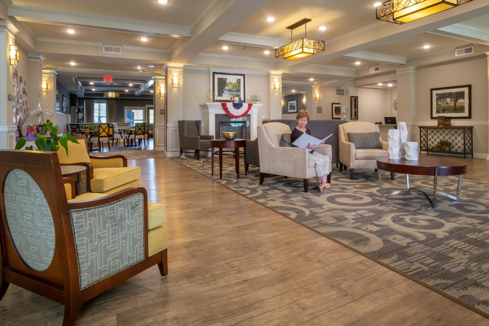 Front lobby at Harmony at Five Forks in Simpsonville, South Carolina