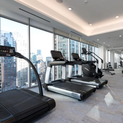 Fitness center at Residences at 8 East Huron in Chicago, Illinois