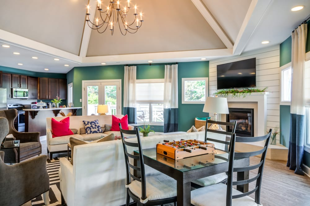 Clubhouse interior at Residences at Belmont in Fredericksburg