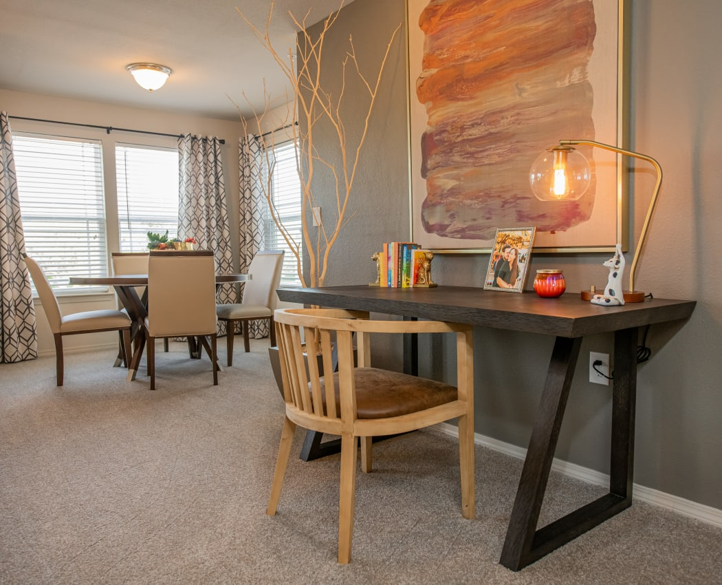 Office and dining nook at Cottages at Crestview in Wichita, Kansas