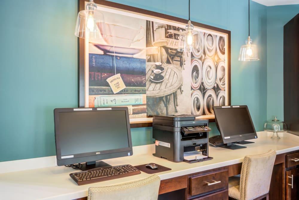 Business center at apartments in Fredericksburg, VA