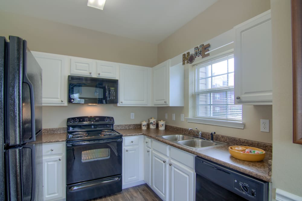 Kitchen at Reserve at Long Point in Hattiesburg, Mississippi