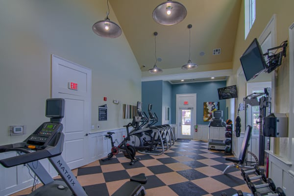 Resident fitness center at Traditions at Westmoore in Oklahoma City, Oklahoma