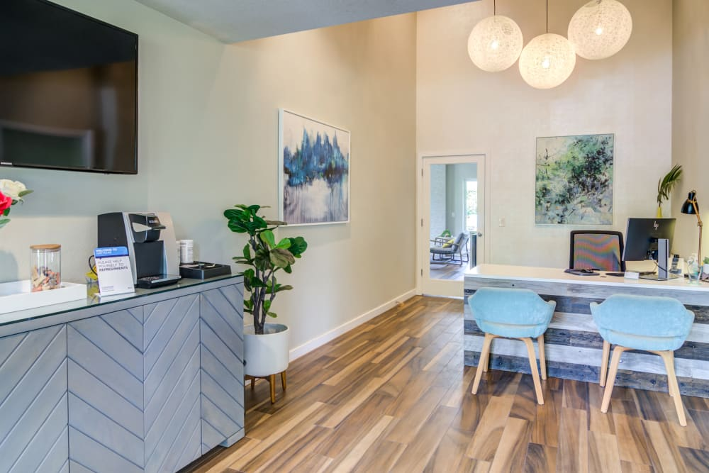 Resident clubhouse at Heatherbrae Commons in Milwaukie, Oregon