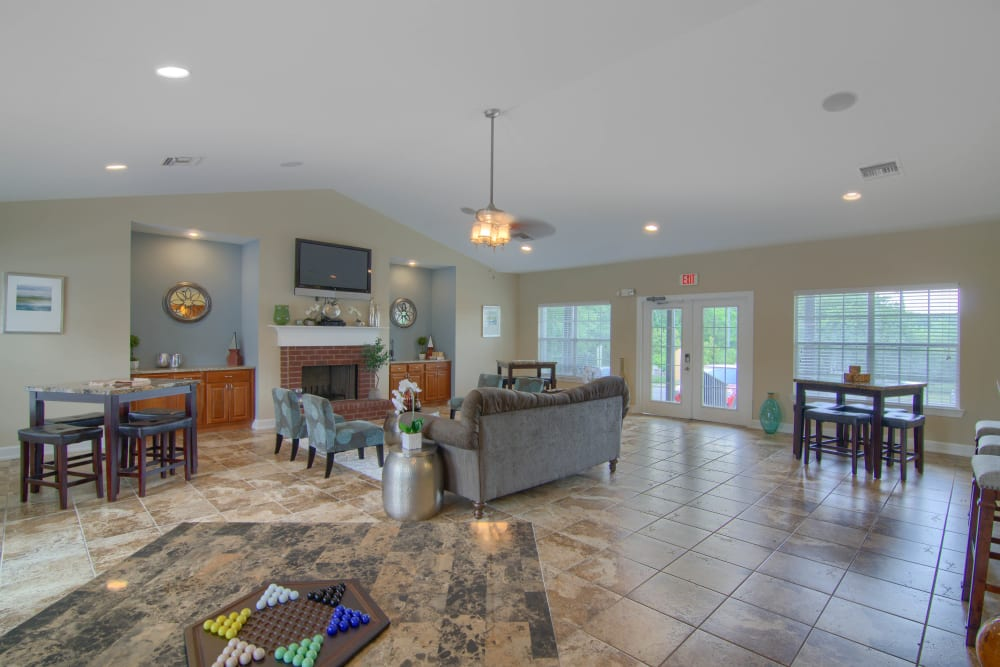 Open living room at Lancaster Place in Calera, Alabama