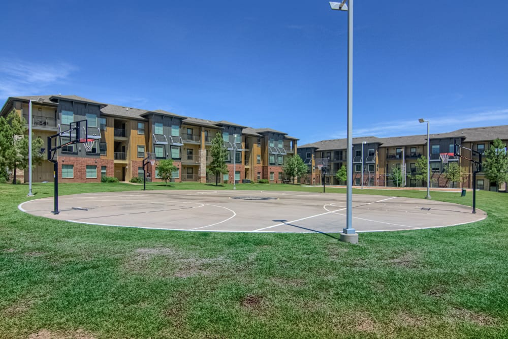 Basketball courts at Tradan Heights in Stillwater, Oklahoma