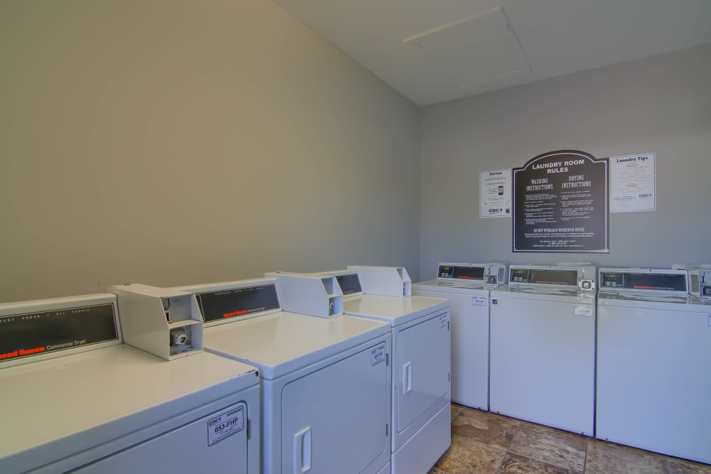 Laundry facility at Lancaster Place in Calera, Alabama