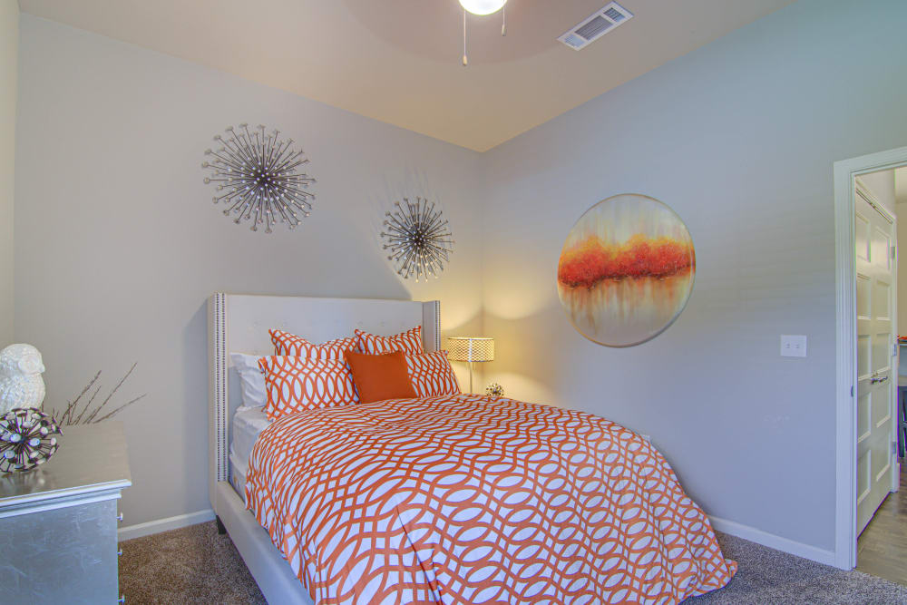 Model Master Bedroom at Tradan Heights in Stillwater, Oklahoma
